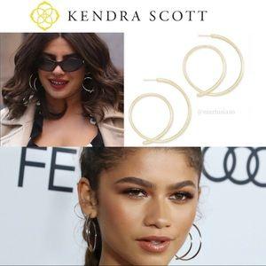 Kendra Scott Myles Hoop Earrings In Gold